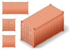 Contenitore di carico isometrico illustrazione di stock