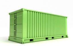 Contenitore di carico verde Fotografia Stock Libera da Diritti