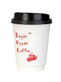 Contenitore di carta del caffè con il coperchio nero Immagine Stock Libera da Diritti