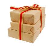 Contenitore di carta di regalo Fotografia Stock Libera da Diritti