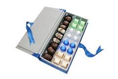 Contenitore di cioccolato Fotografie Stock Libere da Diritti