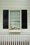Contenitore di fiore della finestra Fotografia Stock Libera da Diritti