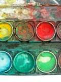 Contenitore di gamma di colori di colore fotografie stock libere da diritti