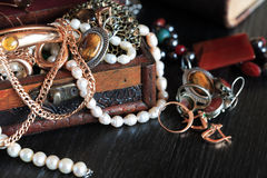 Contenitore di gioielli immagine stock