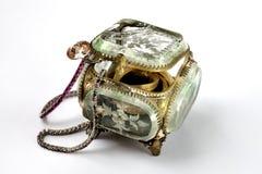 Contenitore di gioielli d'annata Immagini Stock
