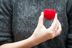 Contenitore di gioielli del cuore Immagine Stock Libera da Diritti