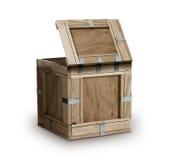 Contenitore di legno della cassa di legno fotografia stock
