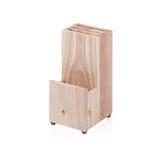 Contenitore di legno vuoto di coltelleria Fotografia Stock