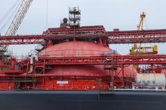 Contenitore di LNG Fotografia Stock