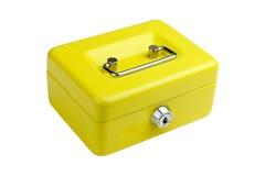 Contenitore di metallo giallo Fotografia Stock