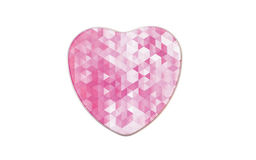Contenitore di metallo nella forma di cuore Fotografie Stock Libere da Diritti
