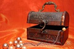 Contenitore di monili rustico Fotografia Stock