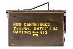 Contenitore di munizioni fotografie stock libere da diritti