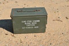 Contenitore di munizioni dell'esercito Immagini Stock