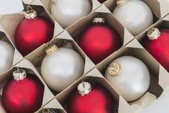 Contenitore di ornamento dell'albero di Natale Fotografia Stock Libera da Diritti