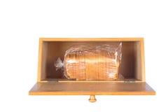 Contenitore di pane su bianco immagini stock libere da diritti