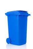 Contenitore di plastica blu del rullo Fotografia Stock