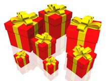 Contenitore di regali Fotografie Stock