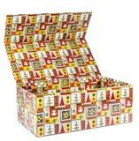 Contenitore di regalo aperto variopinto Fotografia Stock Libera da Diritti