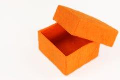 Contenitore di regalo arancione Immagine Stock Libera da Diritti