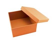 Contenitore di regalo arancione Fotografia Stock Libera da Diritti