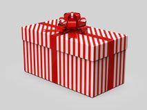 Contenitore di regalo avvolto con il nastro con l'arco isolato su fondo bianco illustrazione 3D illustrazione vettoriale