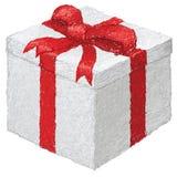 Contenitore di regalo bianco Fotografie Stock Libere da Diritti