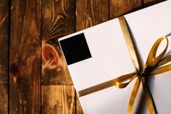 Contenitore di regalo bianco Fotografia Stock Libera da Diritti