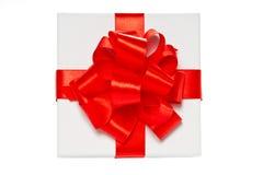 Contenitore di regalo bianco del pasteboard. Vista superiore. fotografia stock libera da diritti