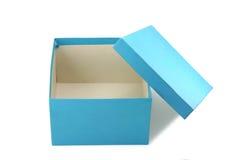Contenitore di regalo blu Fotografie Stock Libere da Diritti