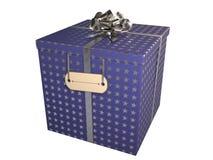 Contenitore di regalo blu royalty illustrazione gratis