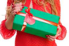 Contenitore di regalo con cuore Immagine Stock Libera da Diritti