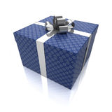Contenitore di regalo con i reticoli Fotografia Stock