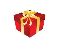 Contenitore di regalo con l'arco Immagine Stock