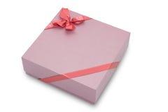 Contenitore di regalo con l'arco del nastro Immagine Stock