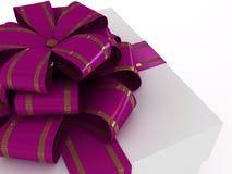 Contenitore di regalo con l'arco lilla royalty illustrazione gratis