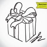 Contenitore di regalo con l'illustrazione di vettore dell'arco Royalty Illustrazione gratis