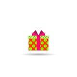 Contenitore di regalo con un arco Immagini Stock