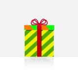 Contenitore di regalo con un arco Immagine Stock Libera da Diritti