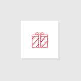 Contenitore di regalo con un arco Immagini Stock Libere da Diritti