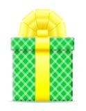 Contenitore di regalo con un'illustrazione di vettore dell'arco Fotografia Stock Libera da Diritti