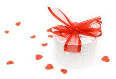 Contenitore di regalo del biglietto di S. Valentino Immagine Stock