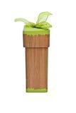 Contenitore di regalo del Brown con il nastro verde Immagine Stock