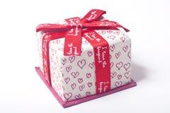Contenitore di regalo di amore Immagini Stock Libere da Diritti