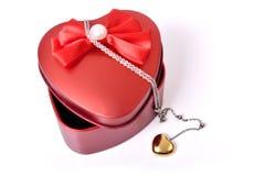 Contenitore di regalo di amore Immagine Stock Libera da Diritti