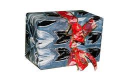 Contenitore di regalo di di nastro di carta Fotografia Stock