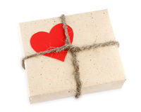Contenitore di regalo di giorno del biglietto di S. Valentino Fotografie Stock