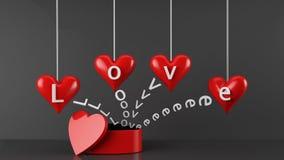 Contenitore di regalo di giorno di biglietti di S. Valentino Fotografia Stock Libera da Diritti