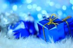 Contenitore di regalo di natale fotografia stock