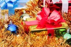 Contenitore di regalo di Natale Fotografia Stock Libera da Diritti